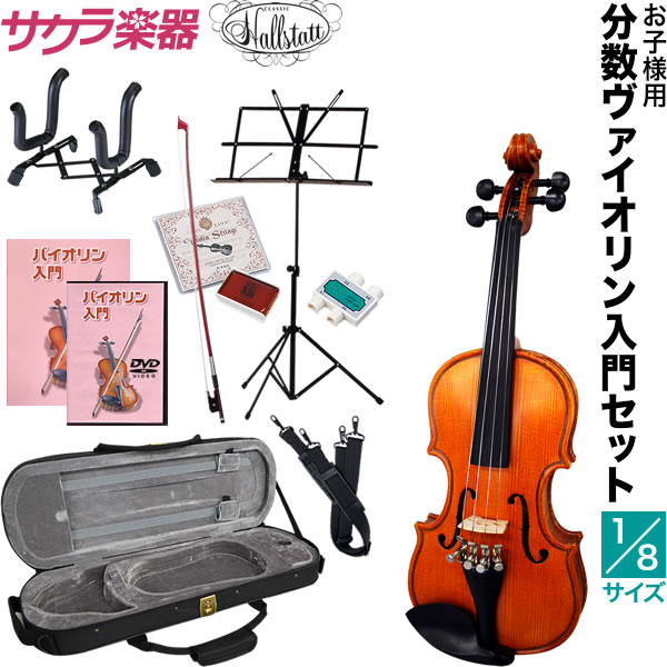 子供用分数バイオリン Hallstatt V-28 1/8サイズ 11点入門セット【ハルシュタット V28】