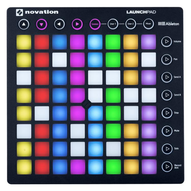 【今だけポイント5倍!12月2日9時59分まで】NOVATION MIDIコントローラー LaunchPad MKII【Ableton Live Lite付属】【ノベーション グリッドコントローラー ランチパッド】