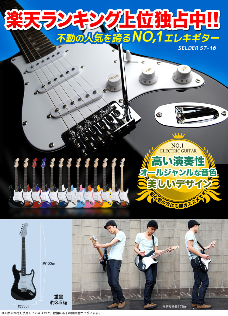 Electric guitar SELDER ST-16 13 point set