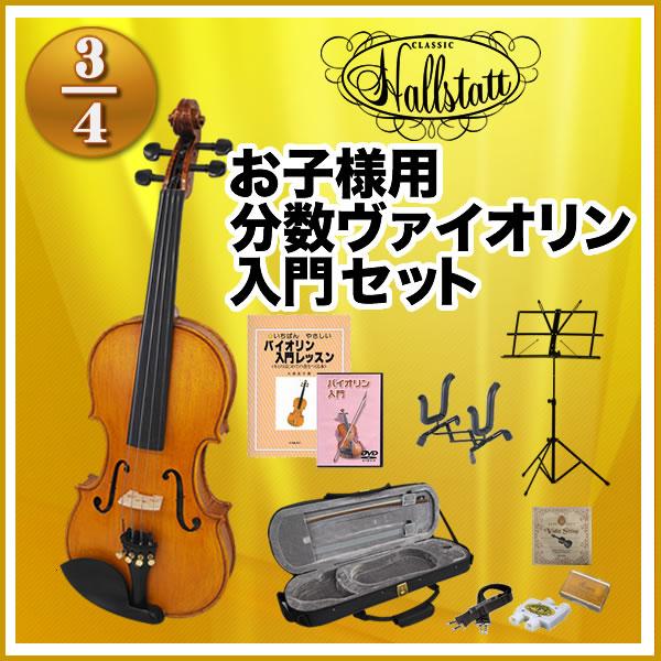初心者入門セット11点【ハルシュタット V28】 V-28 Hallstatt 3/4サイズ バイオリン