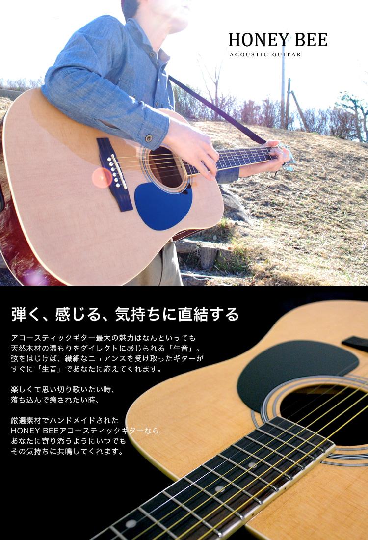 HoneyBee acoustic guitar W-15/F-15 アコギリミテッド tuner set
