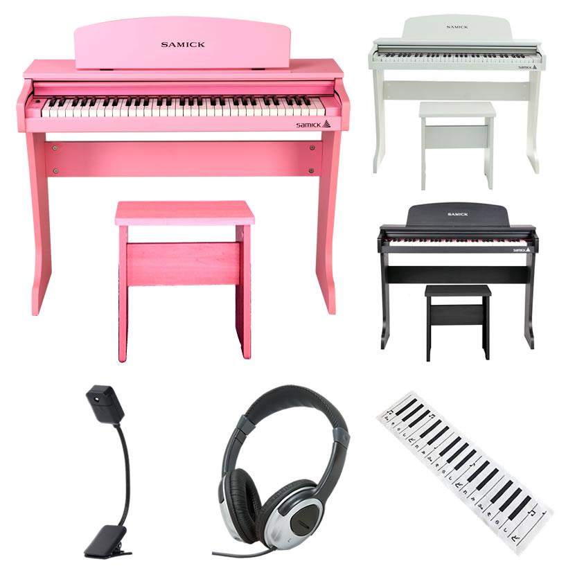 SAMICK ミニデジタルピアノ 61鍵盤 61KID-O2 (便利な3点セット付き) 【61KIDO2 HP170 KDC01 KML01】【子供用ピアノ 電子ピアノ ピアノ キッズ 子供 子ども】【発送区分:大型 ※沖縄・離島は特殊送料】