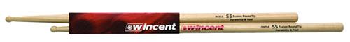 WINCENT(ウィンセント) ドラムスティック(10組セット) メイプル・ラウンドチップ W-55FMRT・Fusion D=14.7mm) W-55FMRT (L=406mm (L=406mm D=14.7mm), 道具屋 利作:5502cea9 --- officewill.xsrv.jp