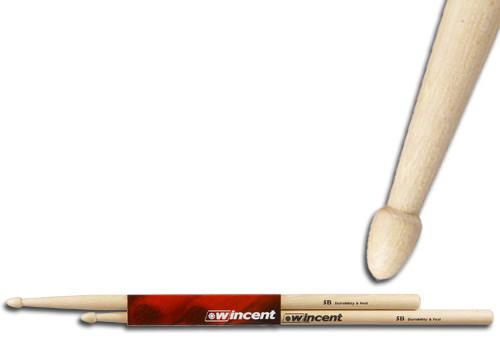 WINCENT(ウィンセント) ドラムスティック(10組セット) ヒッコリー W-5B (L=410mm D=15.0mm)