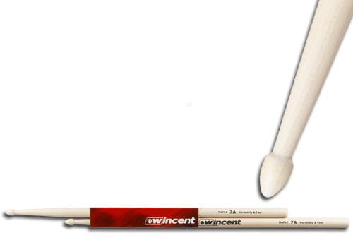 WINCENT(ウィンセント) ドラムスティック(10組セット) メイプル W-7A M (L=397mm D=13.6mm)