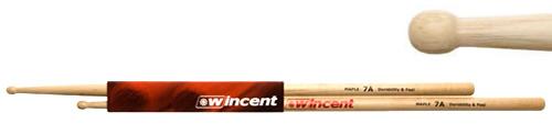 WINCENT(ウィンセント) ドラムスティック(10組セット) メイプル・ラウンドチップ W-7AMRT (L=406mm D=13.6mm)