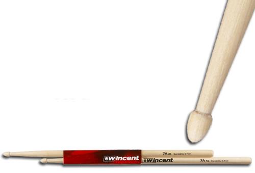 WINCENT(ウィンセント) ドラムスティック(10組セット) ヒッコリー W-7A XL (L=409mm D=13.6mm)