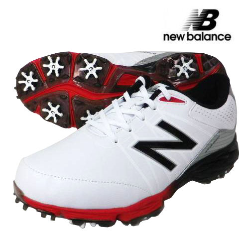 new balance(ニューバランス) ソフトスパイクゴルフシューズ NBG2004 (4E X-WIDE) ホワイト/レッド USモデル
