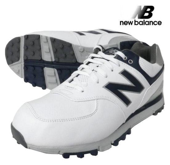 new balance(ニューバランス) スパイクレスゴルフシューズ 574 SL NBG574WN(4E X-WIDE) ホワイト/ネイビー USモデル