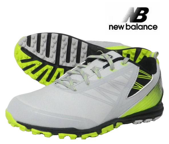 new balance(ニューバランス) スパイクレス ゴルフシューズ MINIMUS NBG1006GRG(2E) グレー/グリーン USモデル
