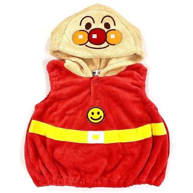 アンパンマン バンダイ ベスト ベビー 子供服 なりきりベスト 冬物 70%OFFアウトレット なりきり タイムセール 仮装