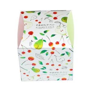 さくらんぼとラ 品質検査済 フランス思い出に残る可愛らしいバウムクーヘン菓子 やまがたクーヘン4個入 さくらんぼ 山形のお土産に 最安値 リニューアルパッケージの新規格 ラ フランス各2個
