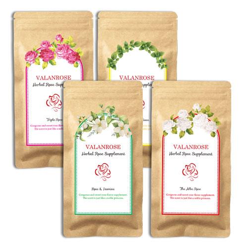 バランローズ ハーバルローズサプリメント【4種セット】(VALANROSE Herbal Rose Supplement 460mg×180粒 サプリメント サプリ ローズ 飲む 美容)