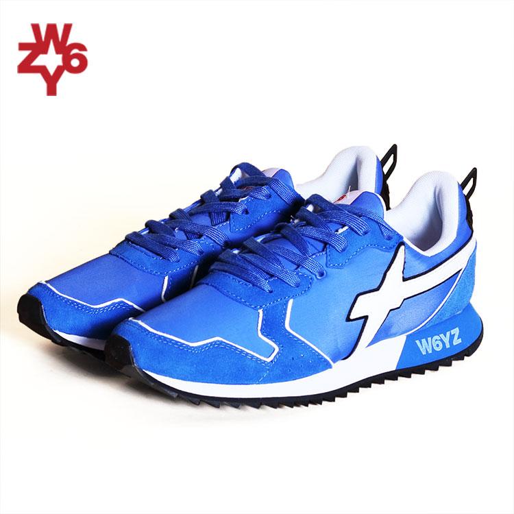 ウィズ W6YZ WIZZ スニーカー ローカット 靴 メンズ ブルー ホワイト/青 白 イタリア WI190-10030 JET 80-01 雑誌掲載 LEON UOMO Safari