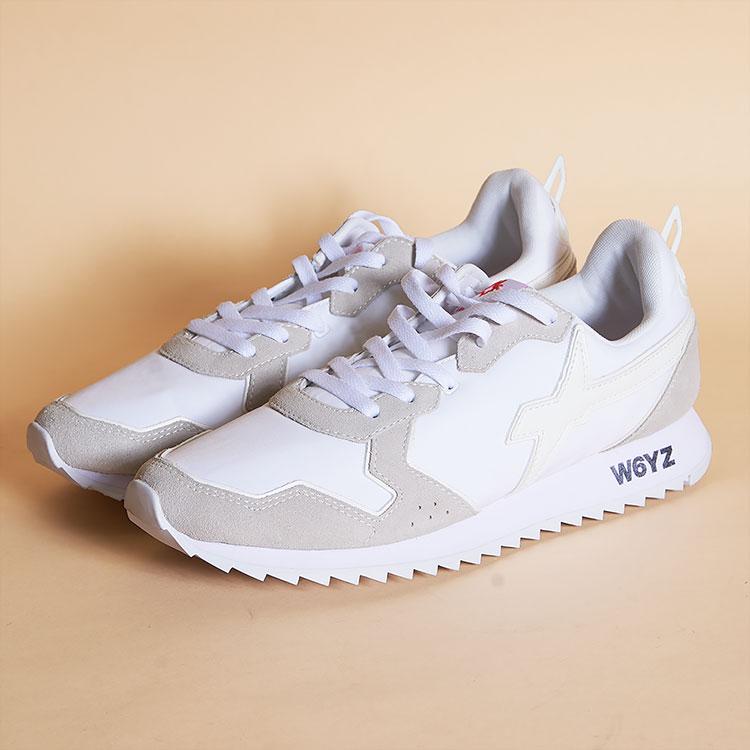 ウィズ W6YZ WIZZ スニーカー ローカット 靴 メンズ ホワイト/白 イタリア JM200-ON01 JET-M 01 雑誌掲載 LEON UOMO Safari