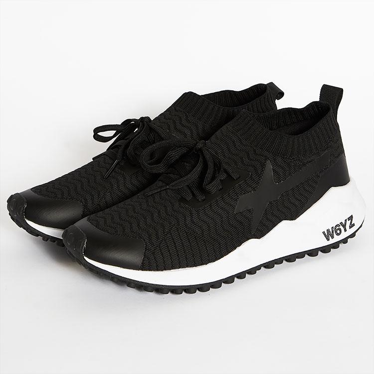 ウィズ W6YZ WIZZ スニーカー ローカット 靴 メンズ ブラック/黒 イタリア SOK-M SKM200-0A01 99 雑誌掲載 LEON UOMO Safari