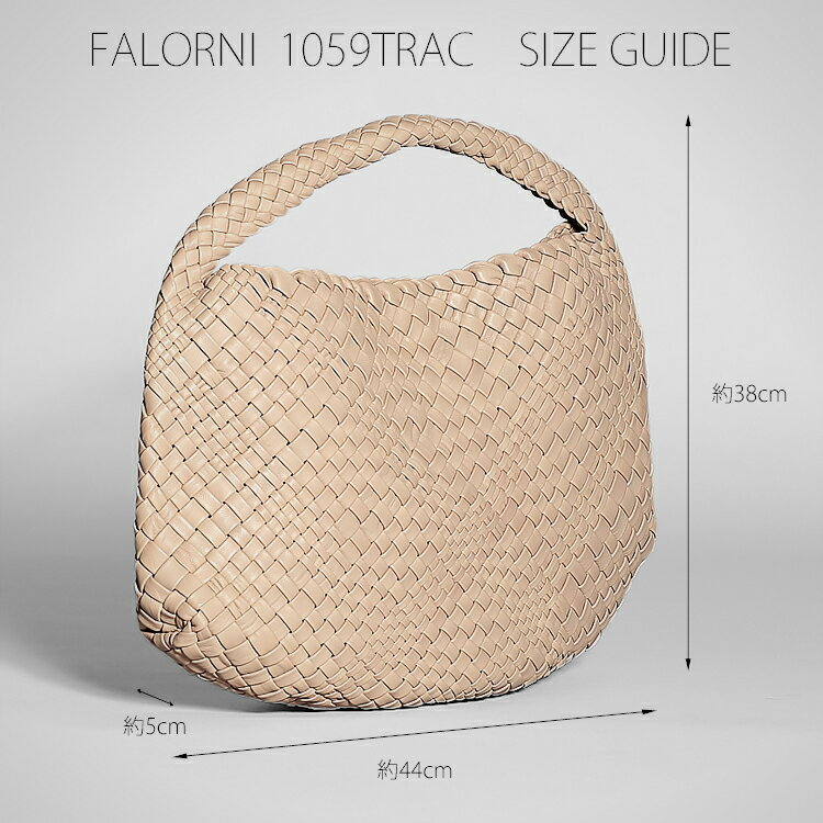 FALORNI ファロルニ falor ファロール レディース バッグ ハンドバッグ グレー 編み込み メッシュ イントレチャート 本革 イタリア製 1059TRAC8n0vNwOm