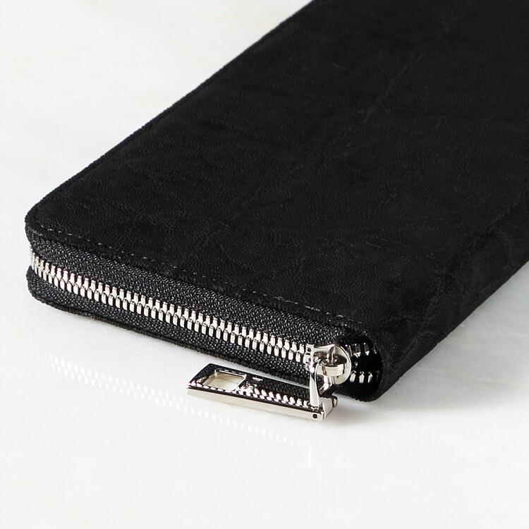 財布 長財布 メンズ レディース エレファント 象革 小銭入れあり レザック LE'SAC ブラック/黒 日本製 8156 正規取扱品