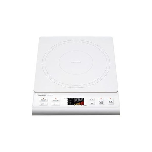 新着セール 見やすいカラー液晶のIHです まとめ YAMAZEN 市販 IH調理器 1400Wホワイト 1台 ×3セット W YEJ-L130