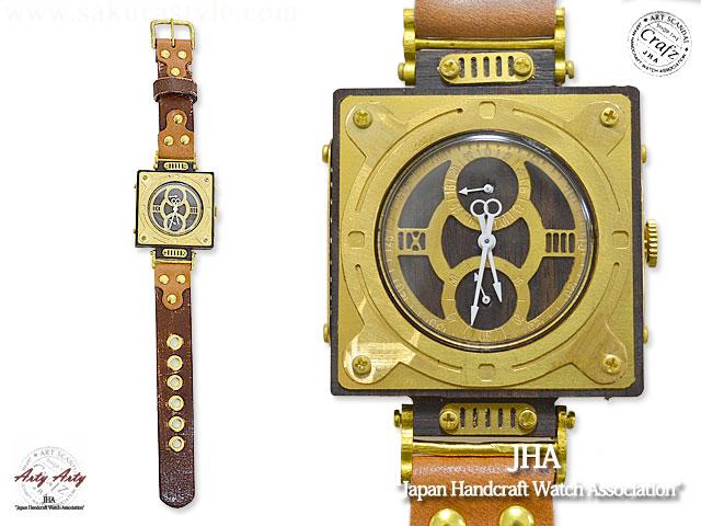 手作り腕時計「Woodypunk-Square」◆ArtyArty【smtb-k】【kb】10P03Dec16[mij_g][mij][new]【thxgd_18】