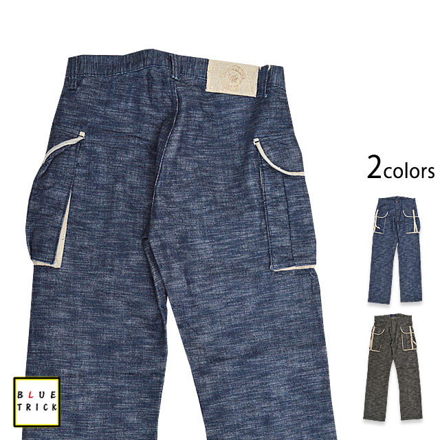 奴隶牛仔货物裤子蓝色把戏日本模式取得日本牛仔裤蓝 TRICK10P03Dec16 [sl]