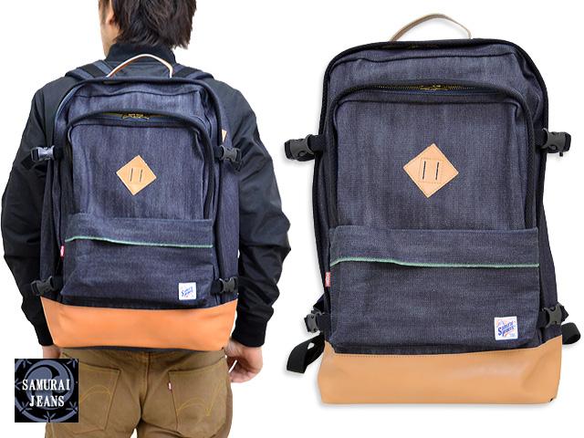 デニムバックパック サムライジーンズ DB17-BP SAMURAI JEANS 日本製 リュック バッグ かばん 送料無料 大容量【smtb-k】【kb】10P03Dec16[mij_g][mij]【thxgd_18】