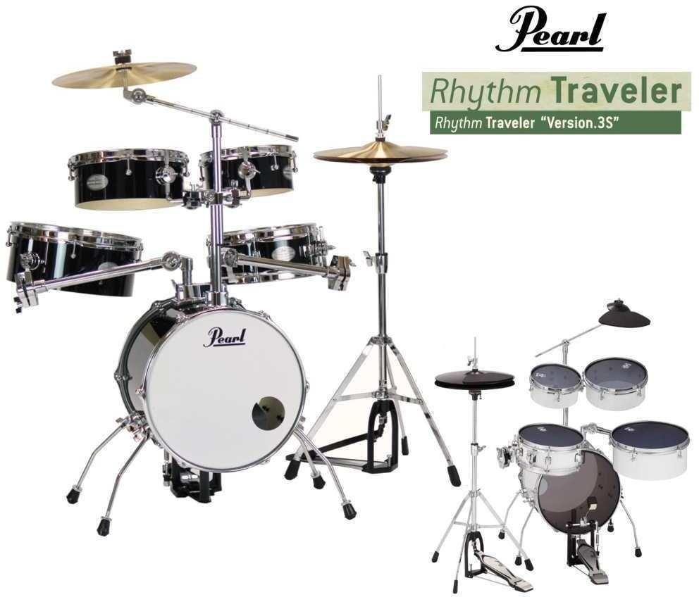 【送料無料】パール Pearl RT-645N/C No.31/消音セット ジェットブラック Rhythm Traveler Ver.3S リズムトラベラー 【smtb-TK】