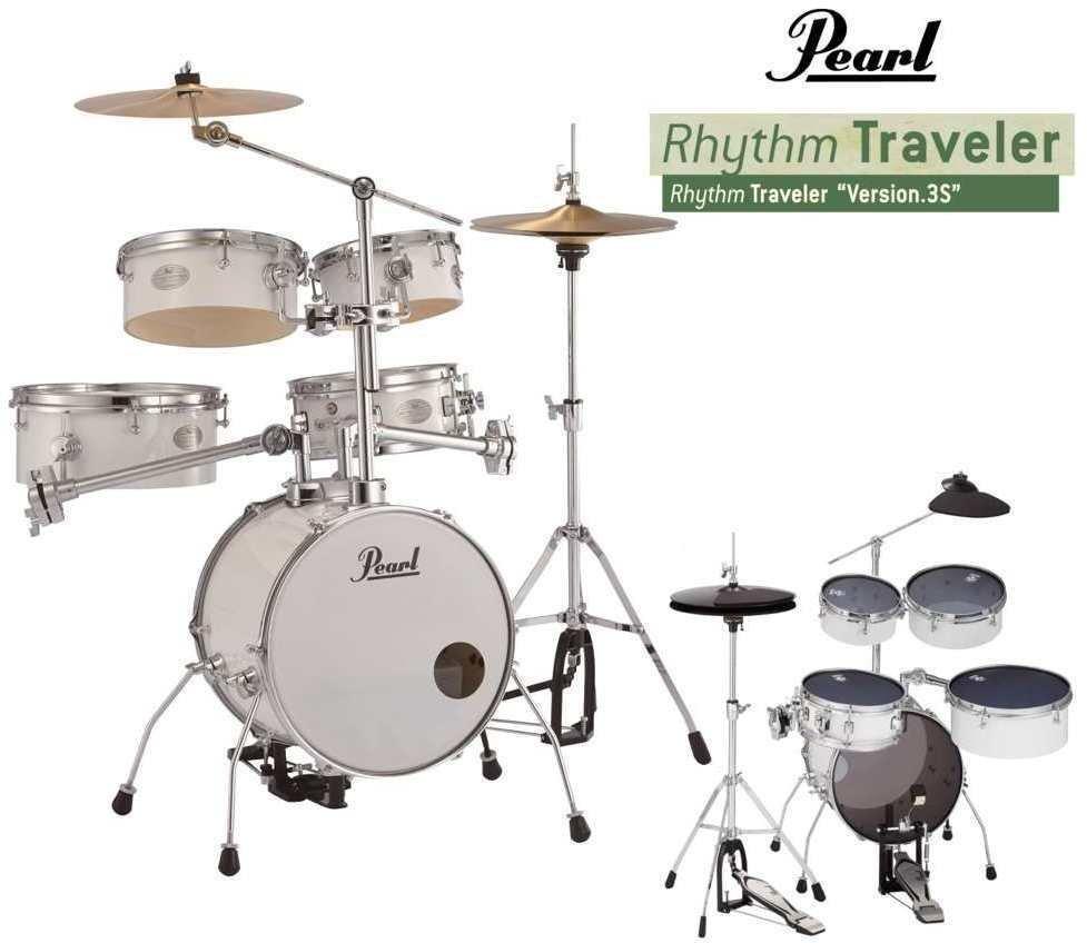 【送料無料】パール Pearl RT-645N/C No.33/消音セット ピュアホワイト Rhythm Traveler Ver.3S リズムトラベラー 【smtb-TK】