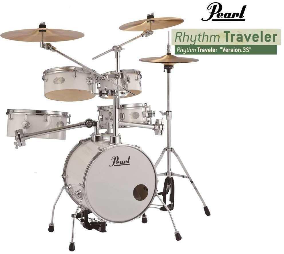 【送料無料】パール Pearl RT-645N/C No.33/追加シンバルセット ピュアホワイト Rhythm Traveler Ver.3S リズムトラベラー 【smtb-TK】