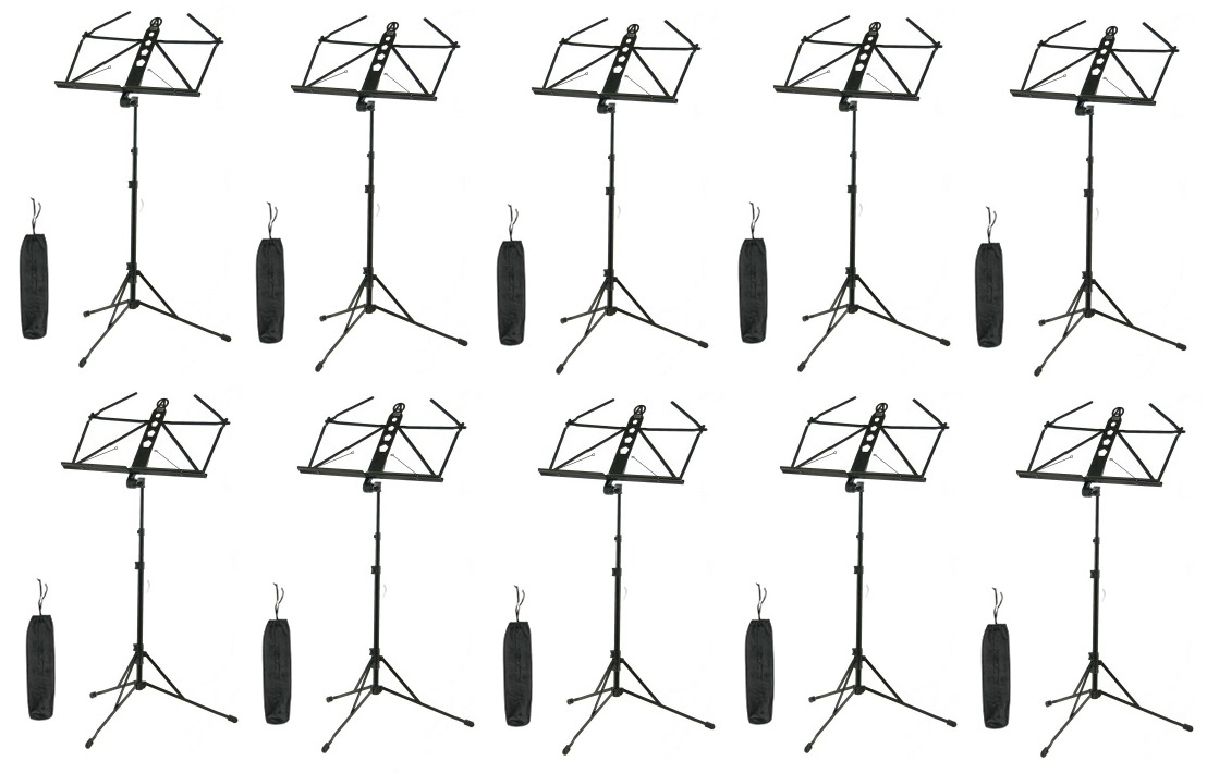 アリア ARIA AMS-100 10台 アルミニウム製譜面台+専用ポーチ【送料無料】【smtb-TK】【ポイント2倍】