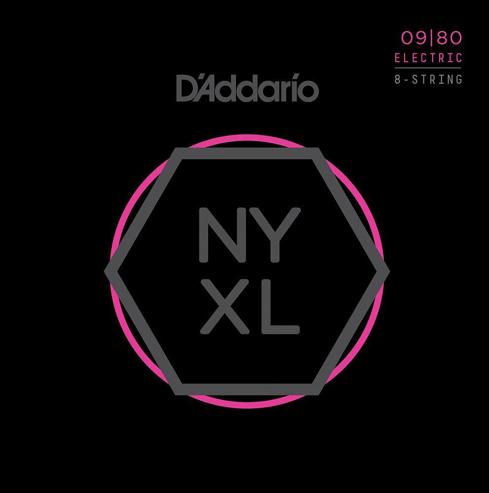 【弦×10セット】【メール便発送・全国送料無料・代金引換不可】ダダリオ D'Addario NYXL0980×10 8弦ギター用 Super Light[09-80]【smtb-TK】