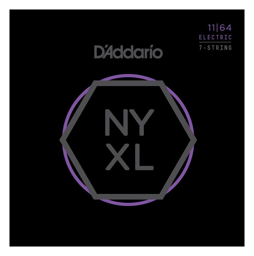 【弦×10セット】【メール便発送・全国送料無料・代金引換不可】ダダリオ D'Addario NYXL1164×10 7弦ギター用 Medium[11-64]【smtb-TK】