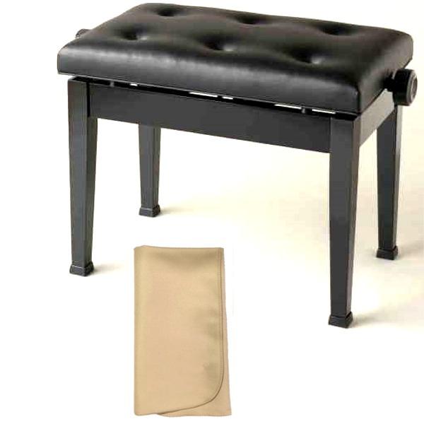 【お手入れクロスプレゼント!!】イトマサ ITOMASA AE/BK ピアノイス 高低自在椅子