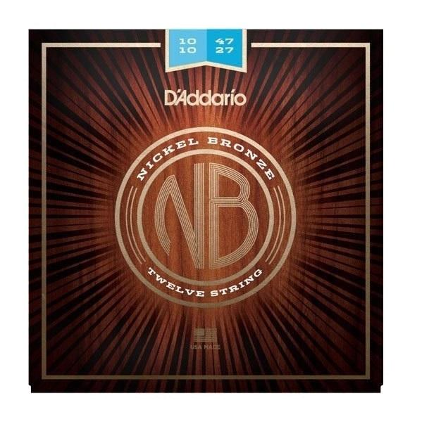 【アコギ弦×5】【メール便発送・全国送料無料・代金引換不可】ダダリオ D'addario NB1047-12×5 Nickel Bronze Acoustic Guitar Strings, Light 12-String, 10-47 アコースティックギター弦【smtb-TK】