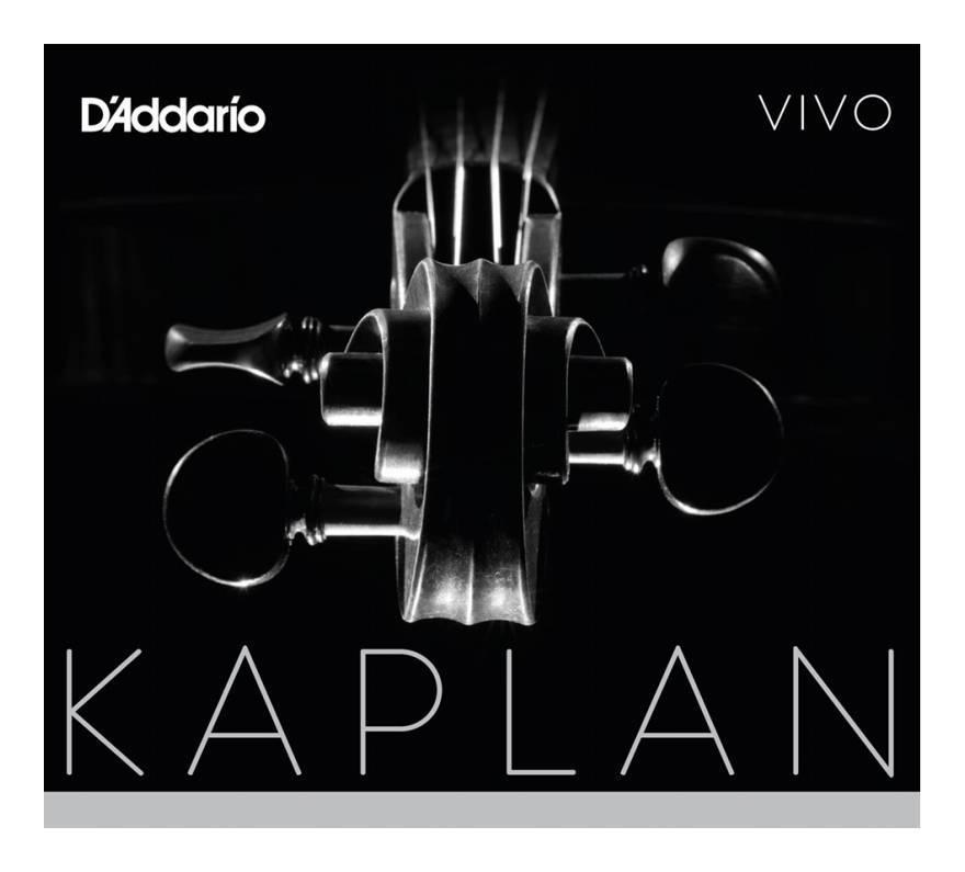 【送料無料】ダダリオ D'Addario KV310 4/4M KAPLAN VIVO SET MED バイオリン弦 セット【smtb-TK】