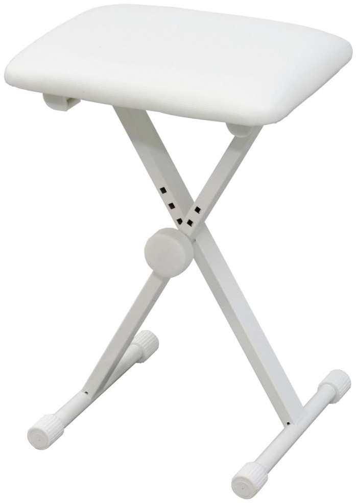 KIKUTANI 最新号掲載アイテム KB-60 WHT ホワイト 4段階高さ調整 キクタニ 推奨 折り畳みイス キーボードベンチ 送料無料 smtb-TK ピアノ椅子
