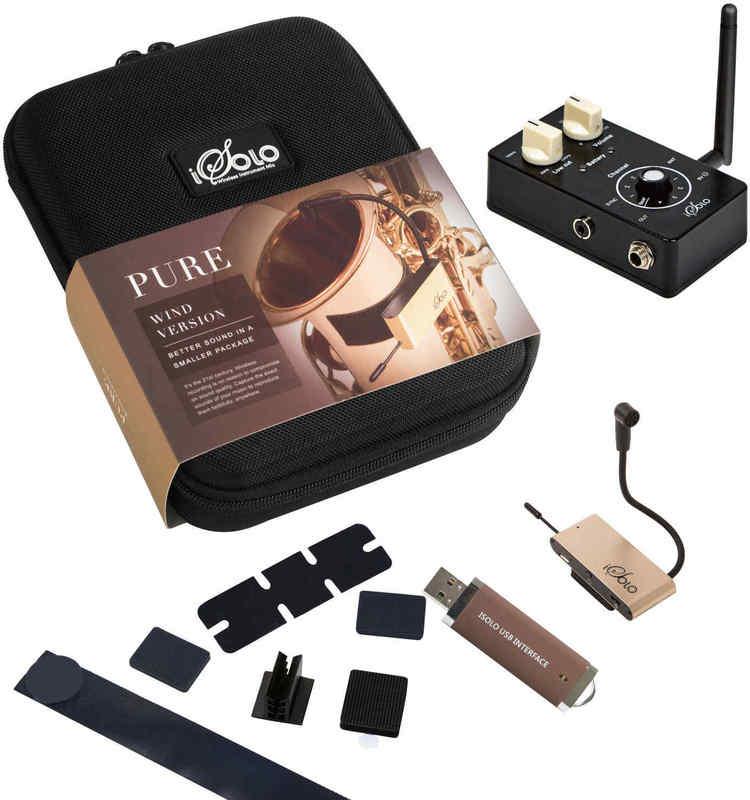【送料無料】iSolo PURE Wind ワイヤレス・レコーディング・システム ソプラノ/アルト/テナー/バリトンサックス 他管楽器用【smtb-TK】