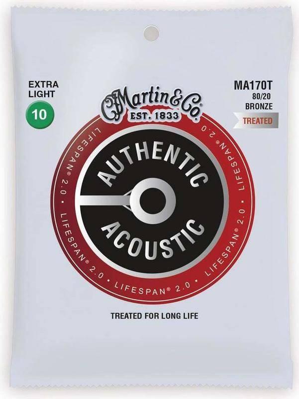 MARTIN MA170T×5 [10-47] AUTHENTIC ACOUSTIC LIFESPAN 2.0/Extra Light アコースティックギター弦【メール便発送・全国送料無料・代金引換不可】【smtb-TK】