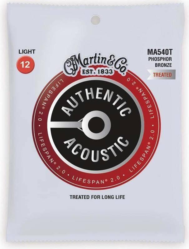 MARTIN MA540T×1 12-54 AUTHENTIC ACOUSTIC LIFESPAN 激安価格と即納で通信販売 2.0 全国送料無料 smtb-TK アコースティックギター弦 メール便発送 商舗 Light 代金引換不可