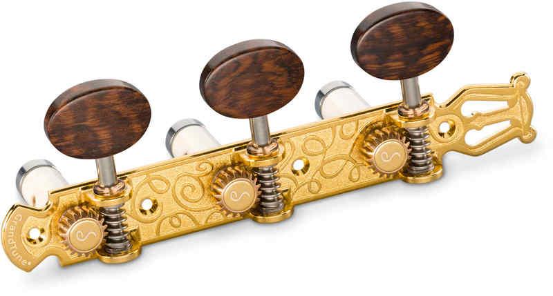 【送料無料】シャーラー Schaller GTC Lyra GO66(40) [Gold/Snakewood oval(ボタン)/White deluxe(ポスト)] クラシックギター用ペグ(糸巻き)セット【smtb-TK】