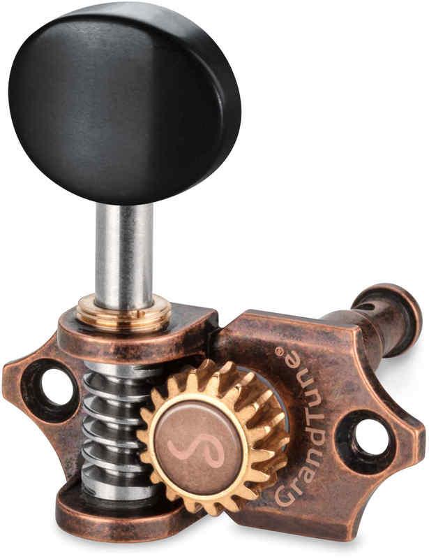 【送料無料】シャーラー Schaller GTU VC42(L2R2) [Vintage Copper/Ebony(ボタン)] ウクレレ用ペグ(糸巻き)セット【smtb-TK】