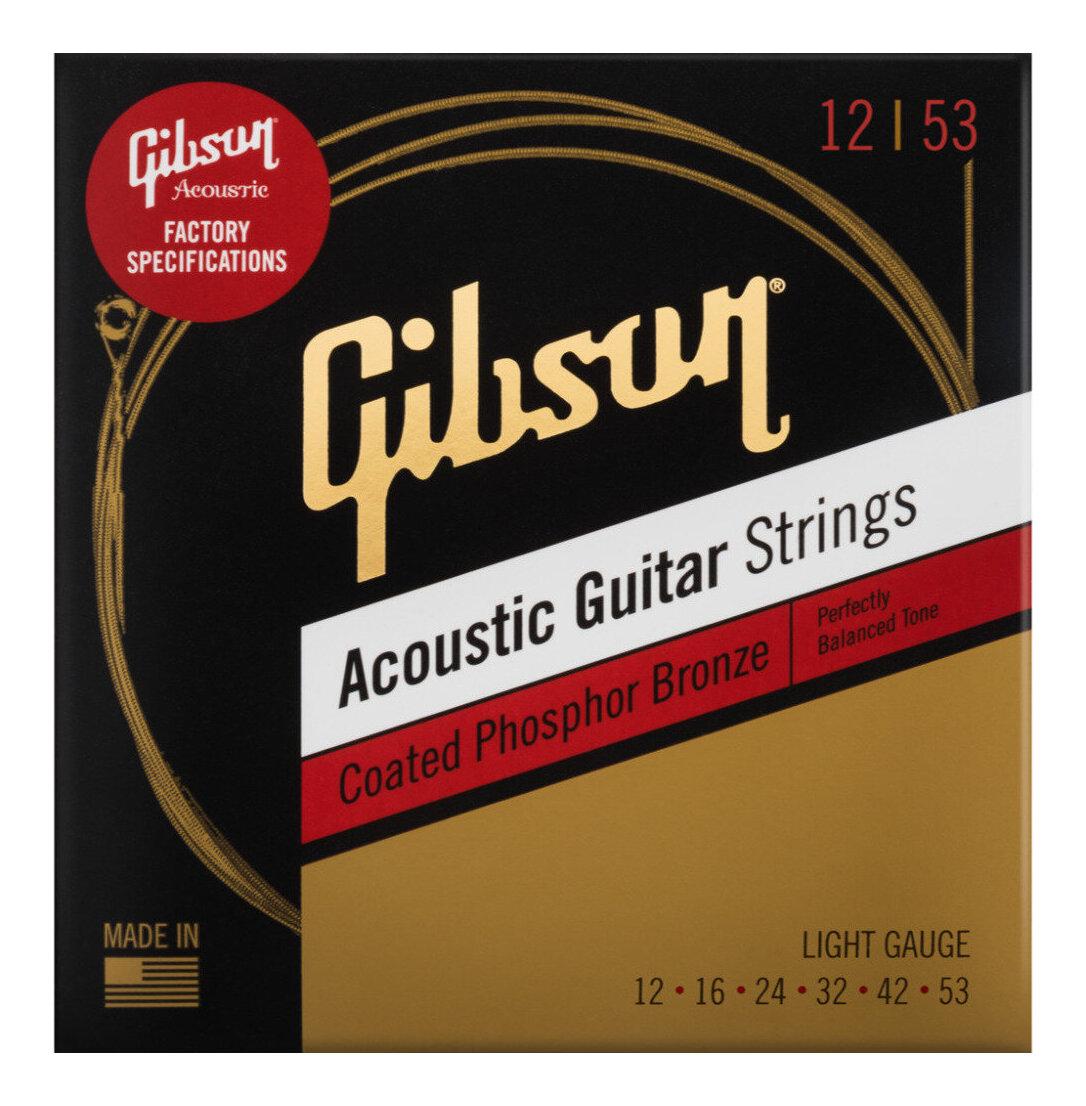 Gibson SAG-CPB12×1 [12-53]Coated Phosphor Bronze/Light アコースティックギター用 コーティング弦【メール便発送・全国送料無料・代金引換不可】【smtb-TK】