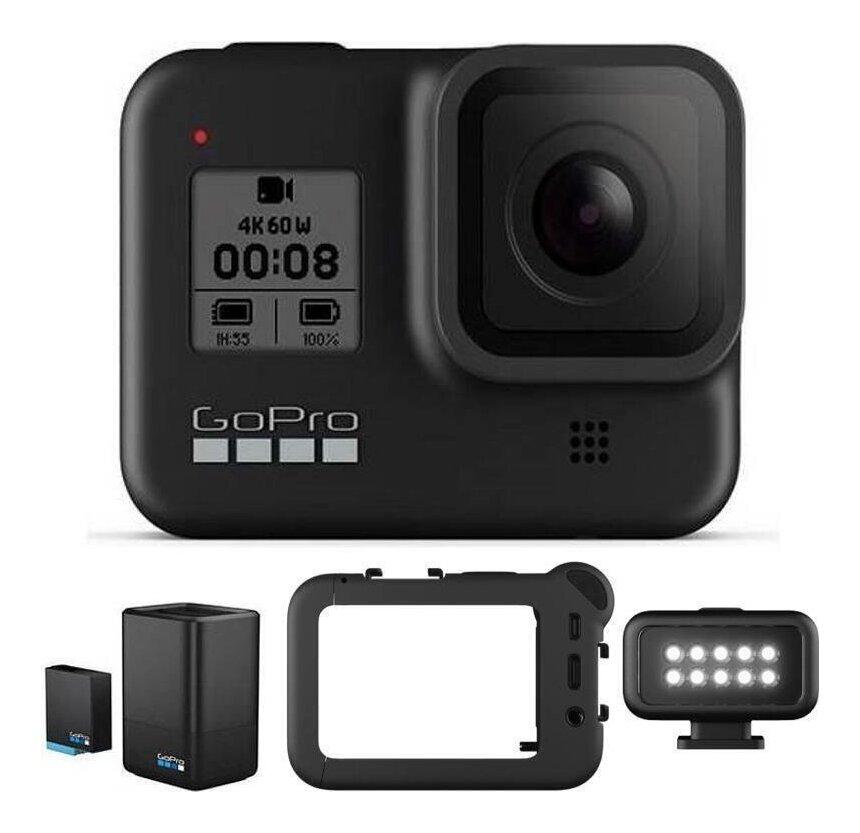 GoPro CHDHX-801-FW/充電器セット+Media Mod+Light Mod付 HERO8 BLACK ウェアラブル・カメラ/国内正規品【送料無料】【smtb-TK】