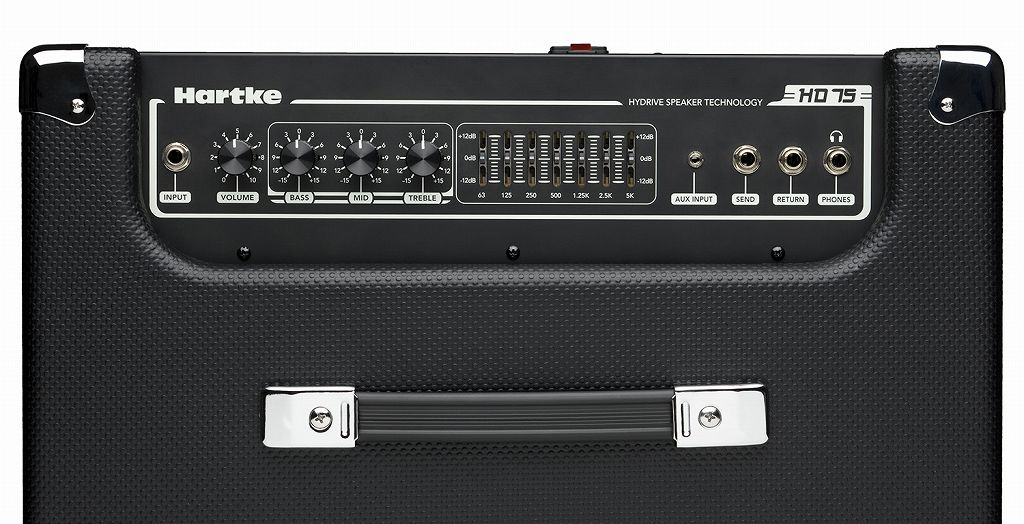 Base amplifier combo amplifier mounted with heart key Hartke HD75 12 inches HyDrive speaker