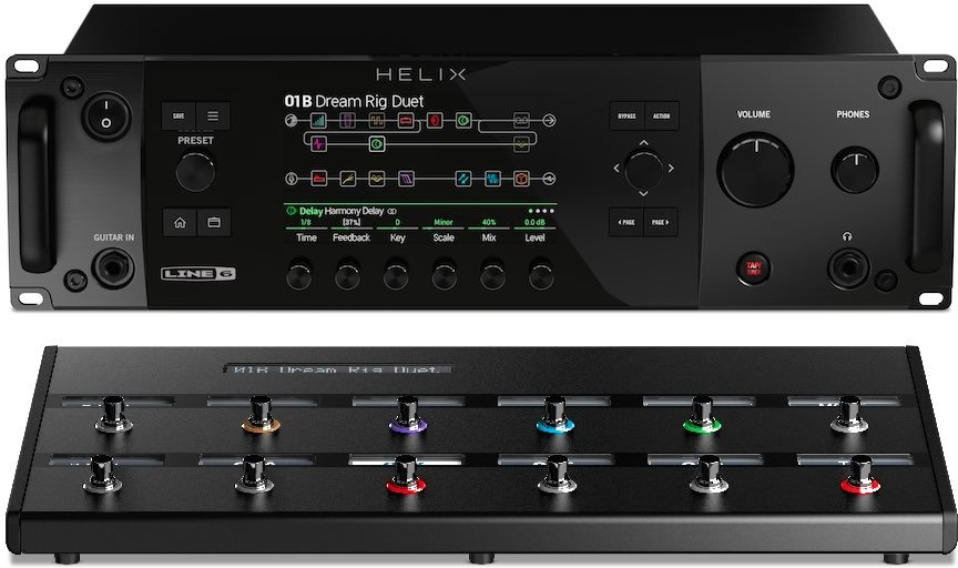 【送料無料】LINE6 HELIX RACK BUNDLE (HELIX RACK + HELIX CONTROLセット) プロスペック・ギタープロセッサー + 専用コントローラー【smtb-TK】