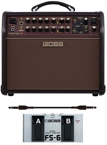 年間定番 ボス BOSS ACS-LIVE+フットスイッチ FS-6+audio-technica製接続ケーブル Acoustic Singer Live 特価キャンペーン Amplifier アンプの新定番 ステージ アコースティック 送料無料 smtb-TK