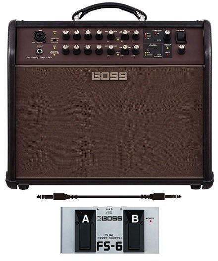 【送料無料】ボス BOSS ACS-PRO+フットスイッチ/FS-6+audio-technica製接続ケーブル Acoustic Singer Pro Acoustic Amplifier アコースティック・ステージ・アンプの新定番【smtb-TK】