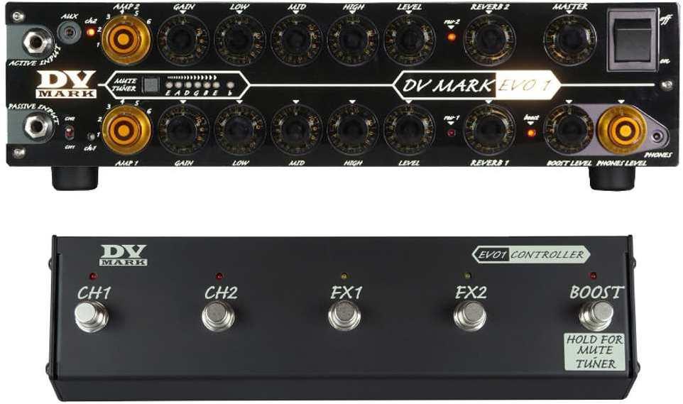 【送料無料】DV MARK DVM-EVO1 + DVM-EVO1/CTR EVO1 最大出力250WのMPT(Mark Proprietary Technology) パワーアンプ+専用フットコントローラーController 2チャンネル仕様【smtb-TK】