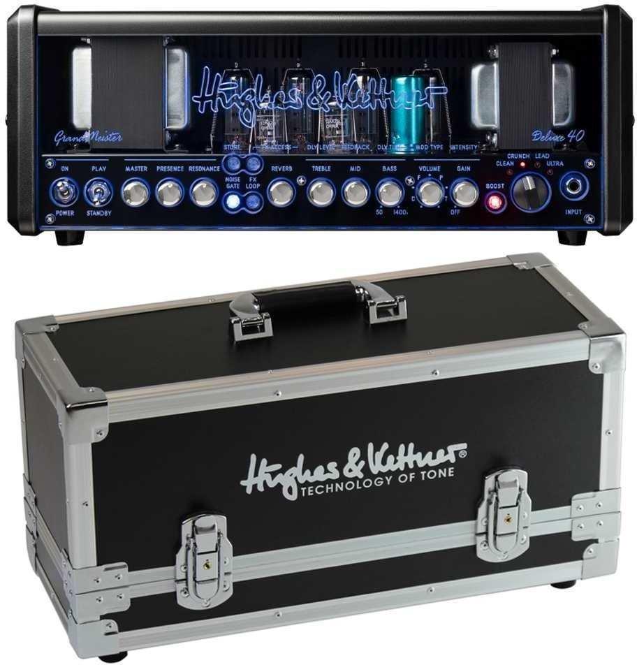 【送料無料】【ロゴ入りハードケース付】ヒュース&ケトナー Hughes&Kettner HUK-GM40DX/HHC GrandMeister Deluxe 40 ギターアンプヘッド + ロゴ入りハードケース【smtb-TK】