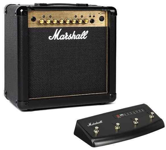 【特典付】【限定Marshallピック2枚付】【送料無料】マーシャル Marshall MG15FX Gold(フットスイッチ/PEDL90008付) 15Wのコンパクトアンプ【正規輸入品】【smtb-TK】